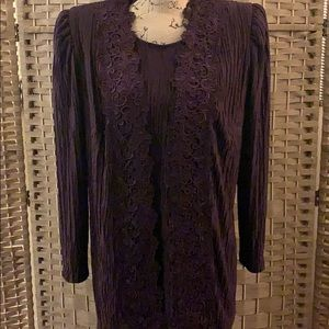 David Rose Mother of the Bride 2 Pc Formal Sz 16
